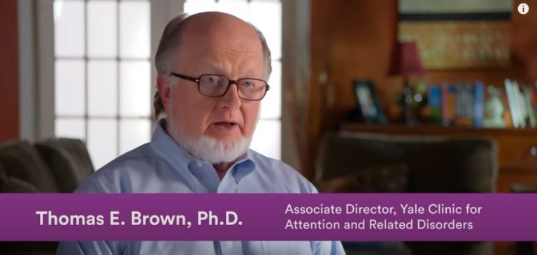 Opening still from video, showing Prof Brown